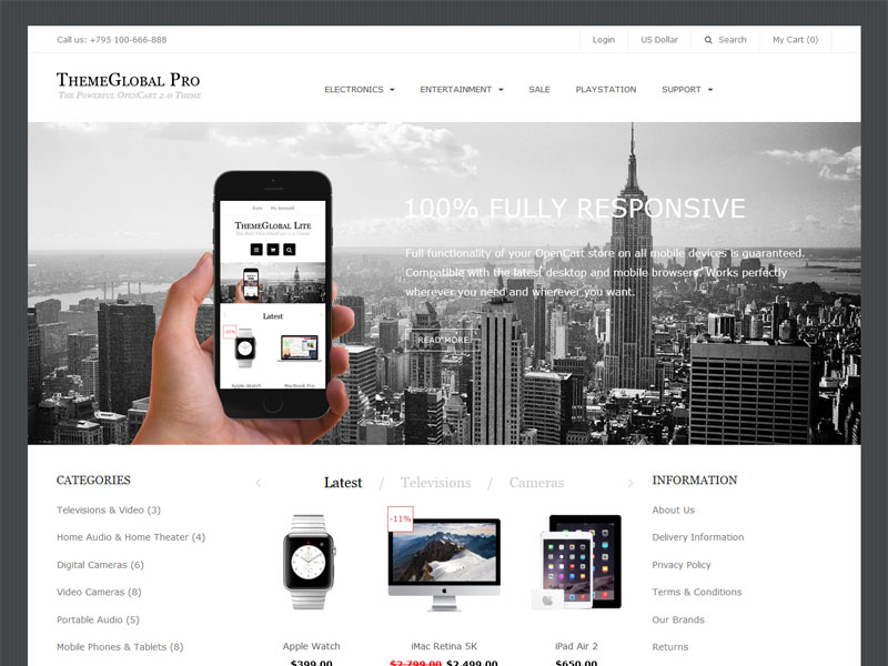 ThemeGlobal | Opencart 3 0 Theme | Free Opencart 3 0 Templates